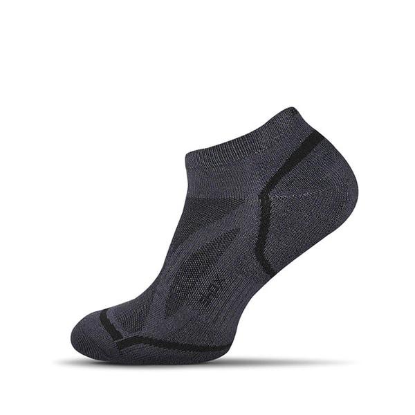 Členkové tmavošedé bambusové pánske ponožky