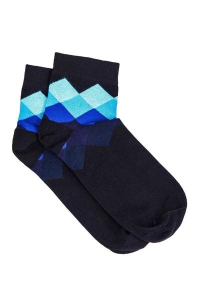 Modré ponožky s trendy vzorom U17