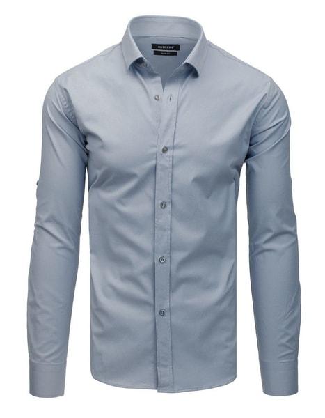Jedinečná šedá pánska košeľa