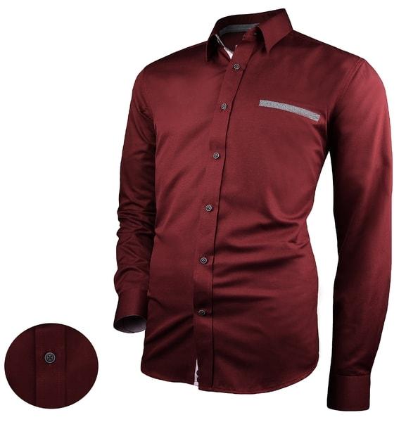 Pánska košeľa Victorio v burgundy farbe