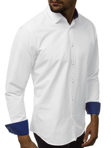Moderná biela pánska košeľa V/K140