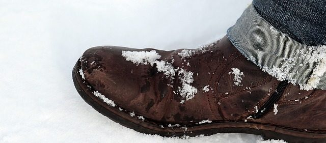 kožené zimné topánky