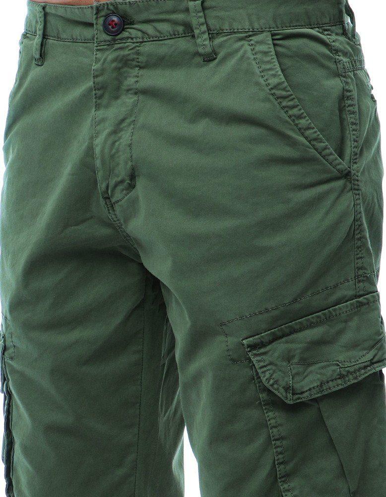 olivové pánske cargo nohavice
