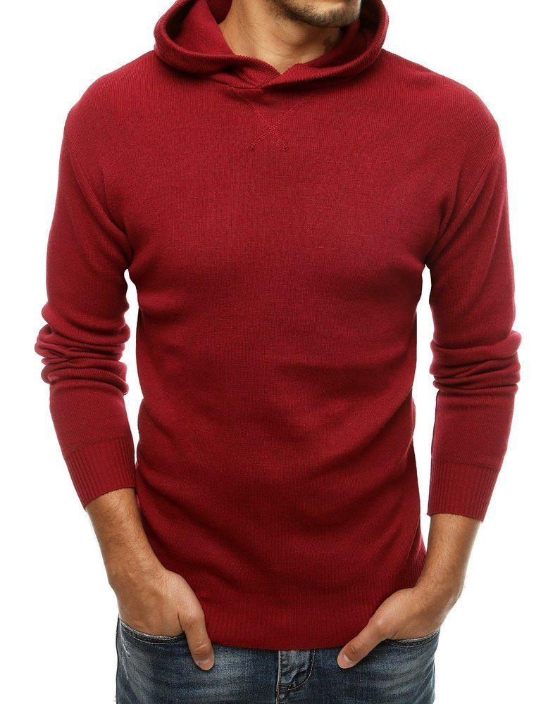 moderný pánsky sveter bordový