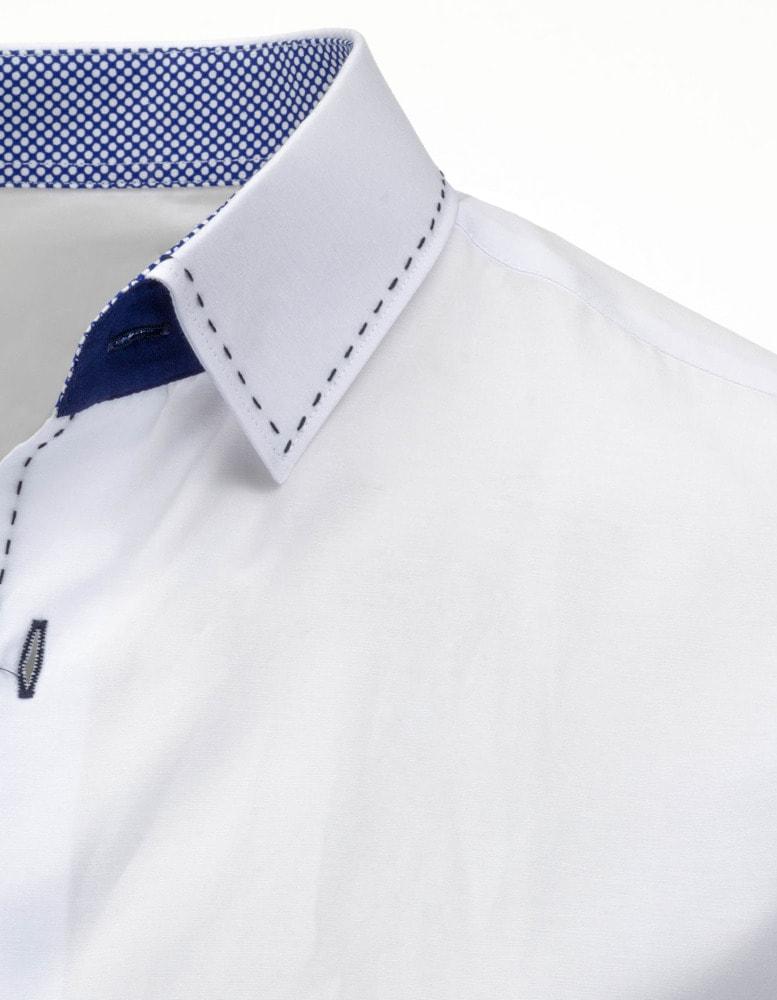 b3e9155ac30f Moderná elegantná biela pánska košeľa - Budchlap.sk