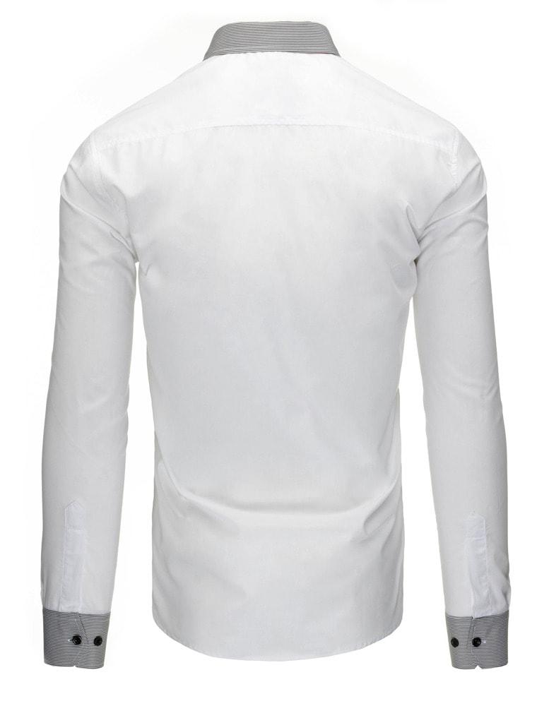 a92c4c3d736e Biela pánska košeľa slim fit strihu - Budchlap.sk