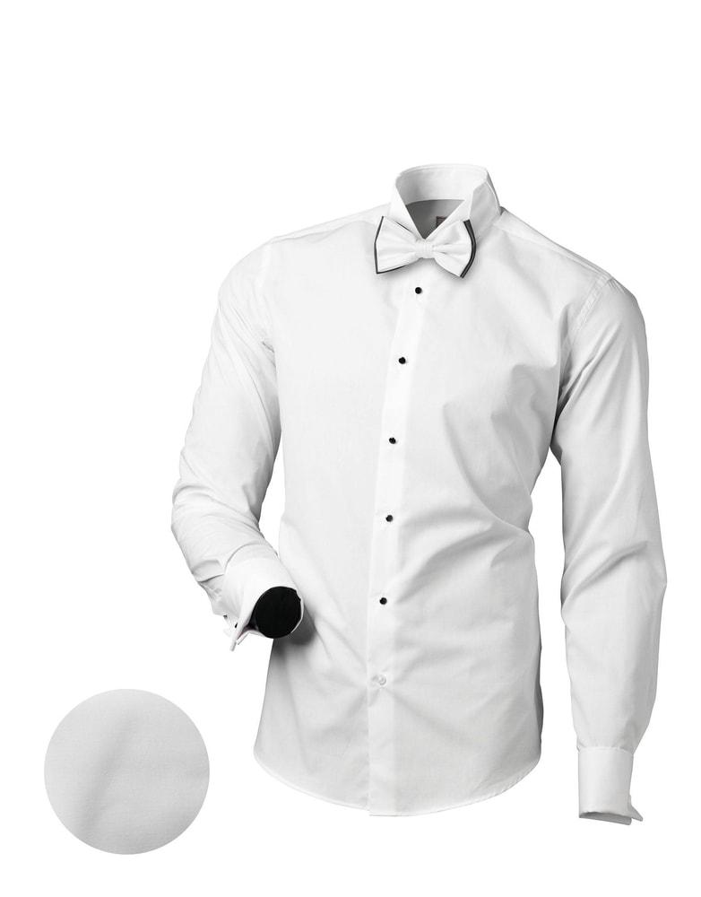 761e1d54f Slávnostná biela slim fit pánska košeľa V151 - Budchlap.sk