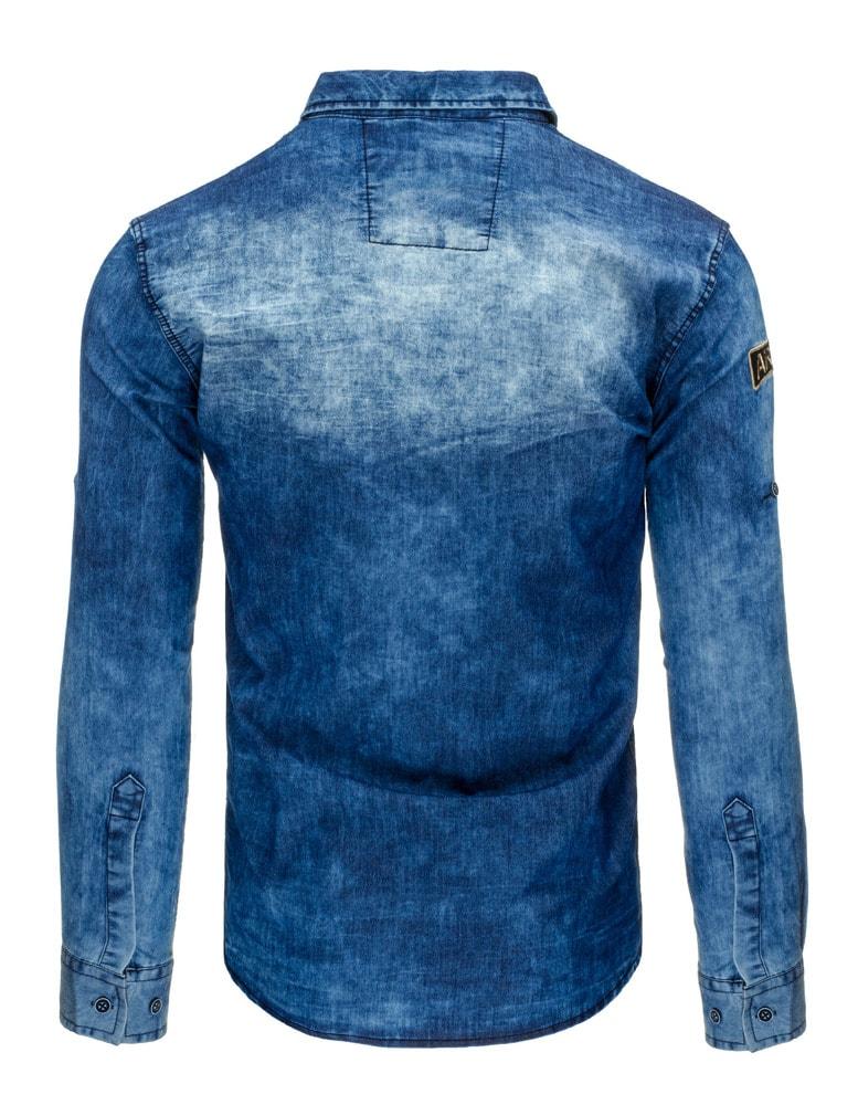 3011104bdfcb Pánska rifľová košeľa MADMEXT 0992 - Budchlap.sk