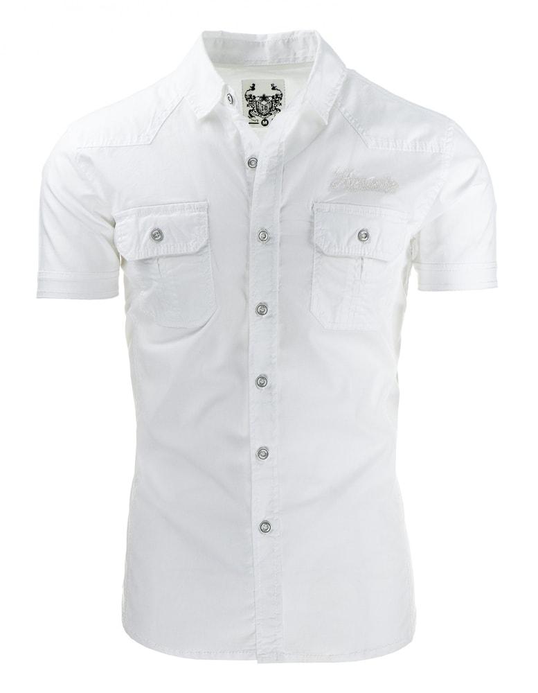 2b0d0109bbe2 Biela pánska košeľa s výšivkou - Budchlap.sk