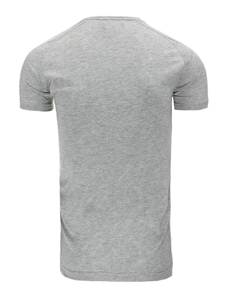 0e91862a522f PEACE šedé pánske tričko z bavlny - Budchlap.sk