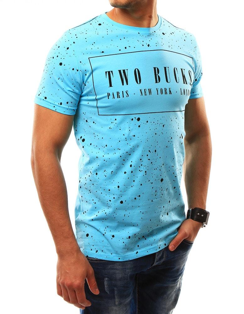 f3cac10e4cd6 Jedinečné svetlomodré tričko TWO BUCKS - Budchlap.sk