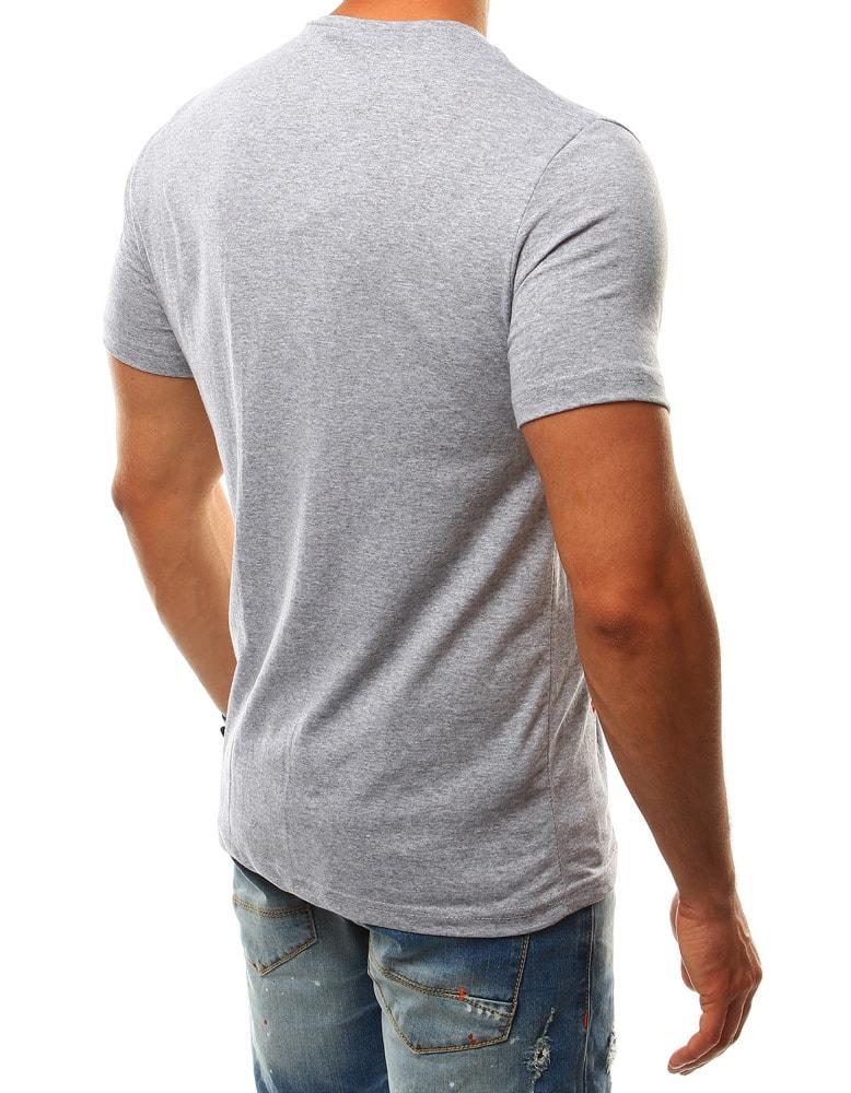d27f5aab861c Originálne šedé tričko - Budchlap.sk