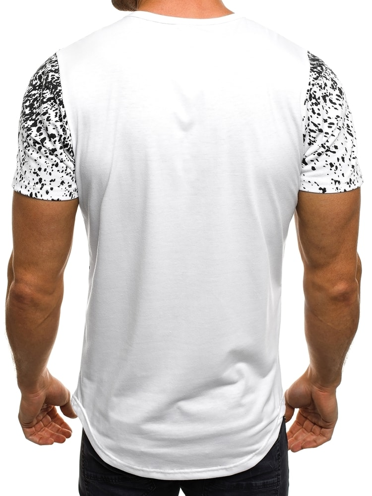 445cfeb1a7d6 Štýlové biele tričko s výrazným nápisom J.STYLE SS181 - Budchlap.sk