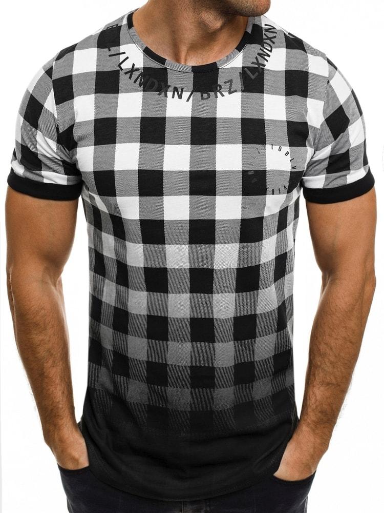 24cdc4a5e Kvalitné čierno-biele kárované tričko BREEZY 532 - Budchlap.sk