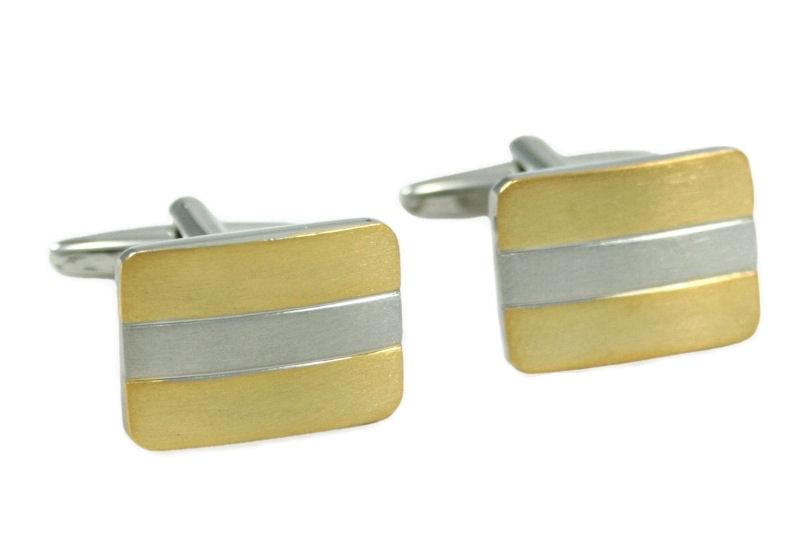 26e2f7e220cc Kombinované zlato-strieborné manžetové gombíky - Budchlap.sk
