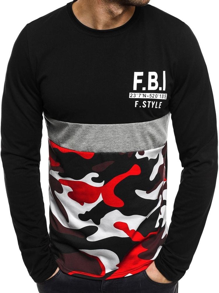 f079117d1 Čierne tričko s maskáčovým vzorom J.STYLE SX072 - Budchlap.sk