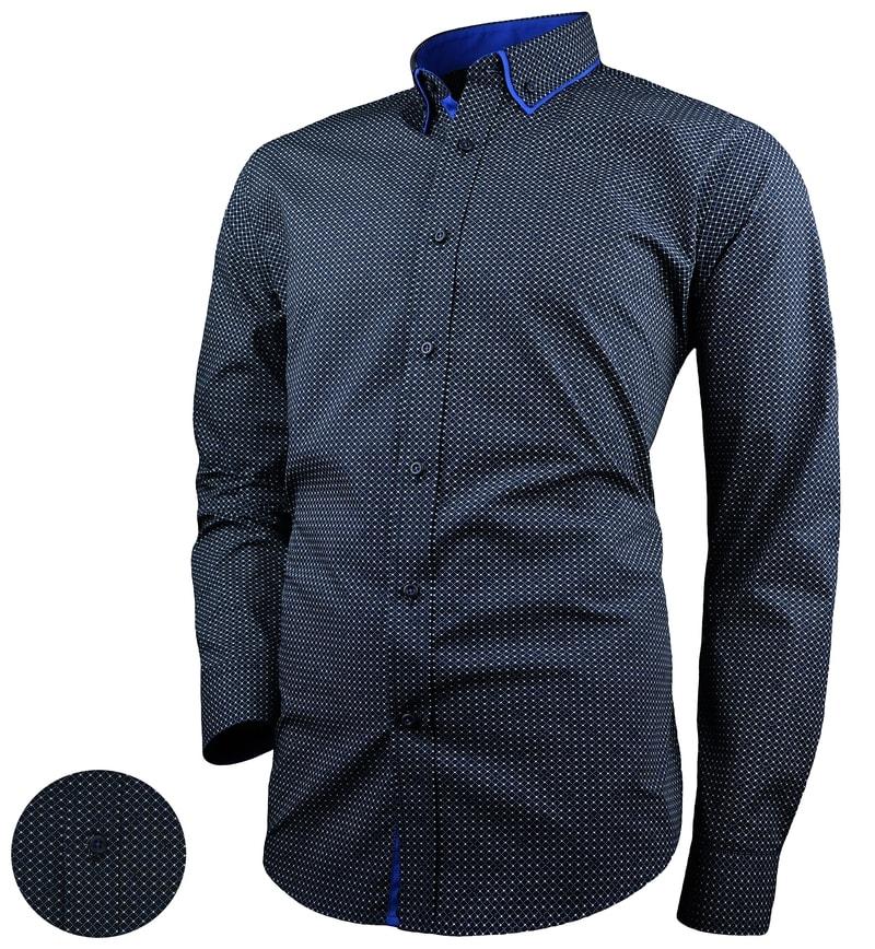 c6b6f61b4a23 Granátová pánska košeľa V287 - Budchlap.sk