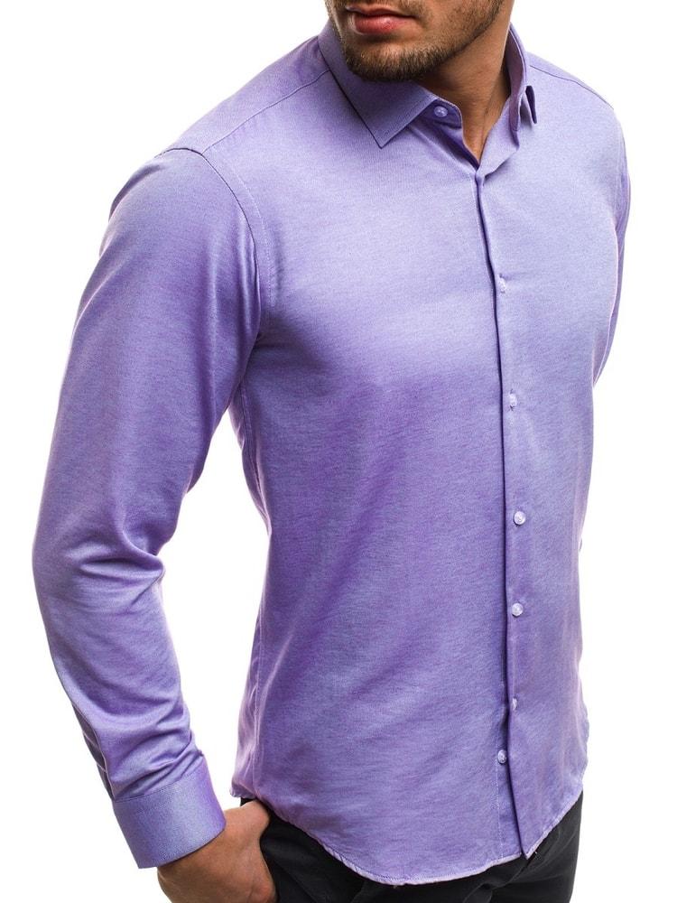 2869b33ca17b Krásna fialová košeľa CSS 001 - Budchlap.sk