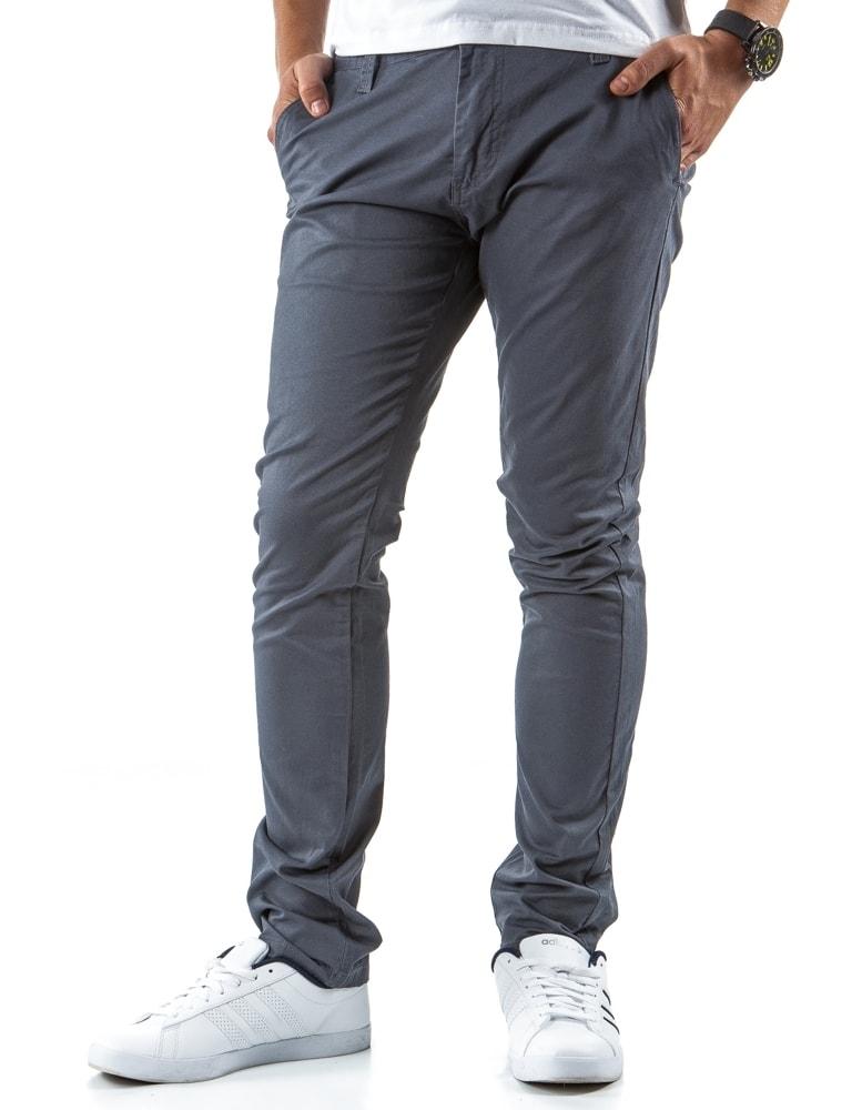 c94223a2a780 Sivé pánske nohavice typu CHINOS - Budchlap.sk