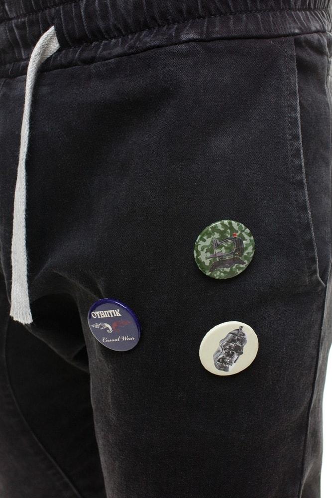 913258110d9f Čierne pudlové nohavice s odznakmi 803 - Budchlap.sk