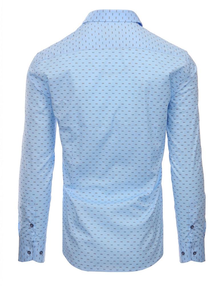 be3cc4f2d0f9 Slabo modrá pánska košeľa s nenápadným vzorom - Budchlap.sk
