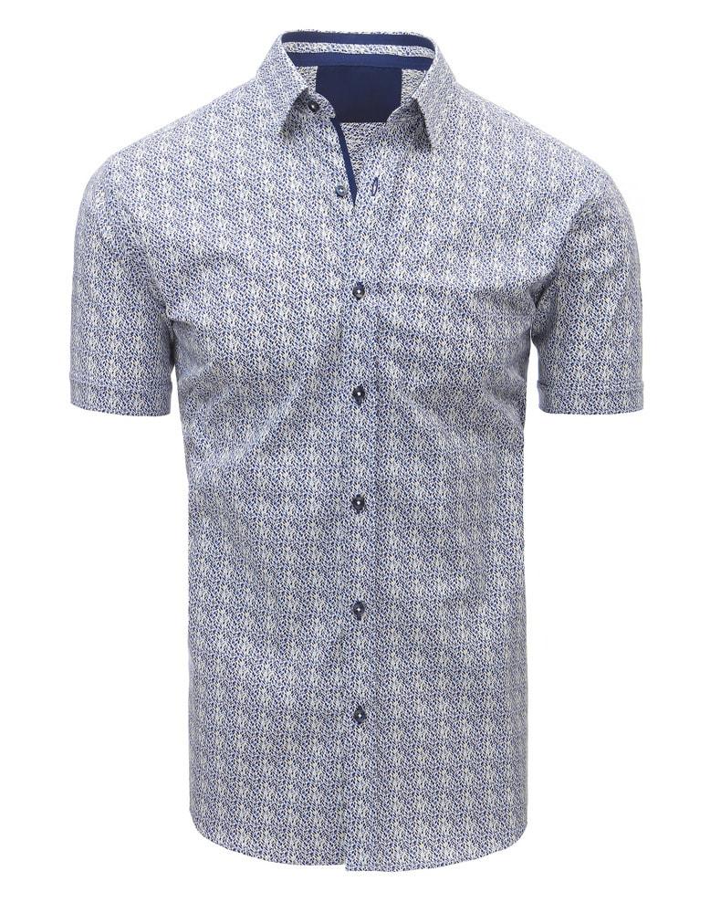 1bf0e0b0b4e9 Pánska košeľa s krátkym rukávom v zaujímavom vzore - Budchlap.sk