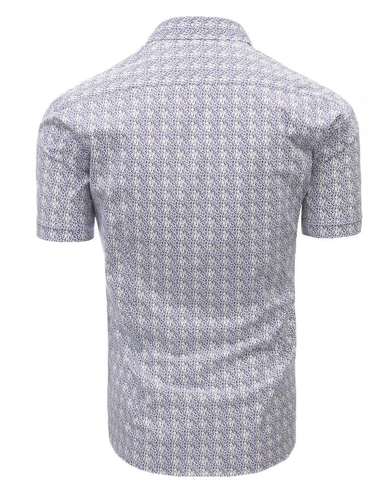 77a742e4b9ea Pánska košeľa s krátkym rukávom v zaujímavom vzore - Budchlap.sk