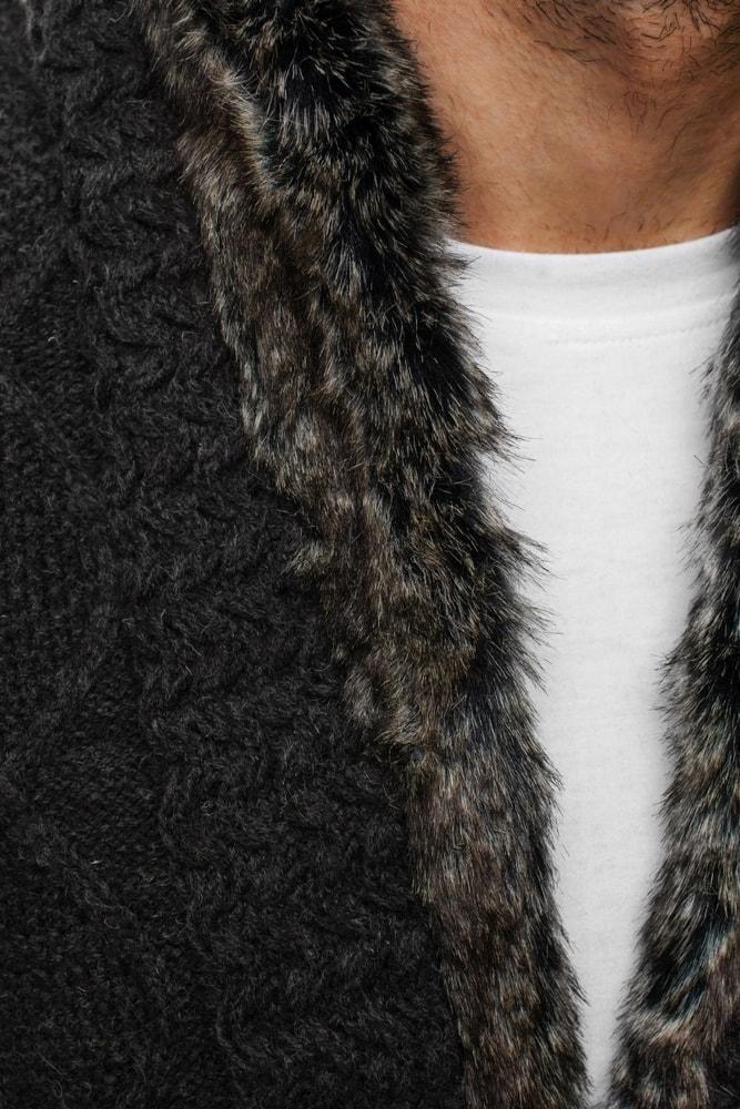 9d4e14f9027e Grafitový sveter na zimu 18071 - Budchlap.sk