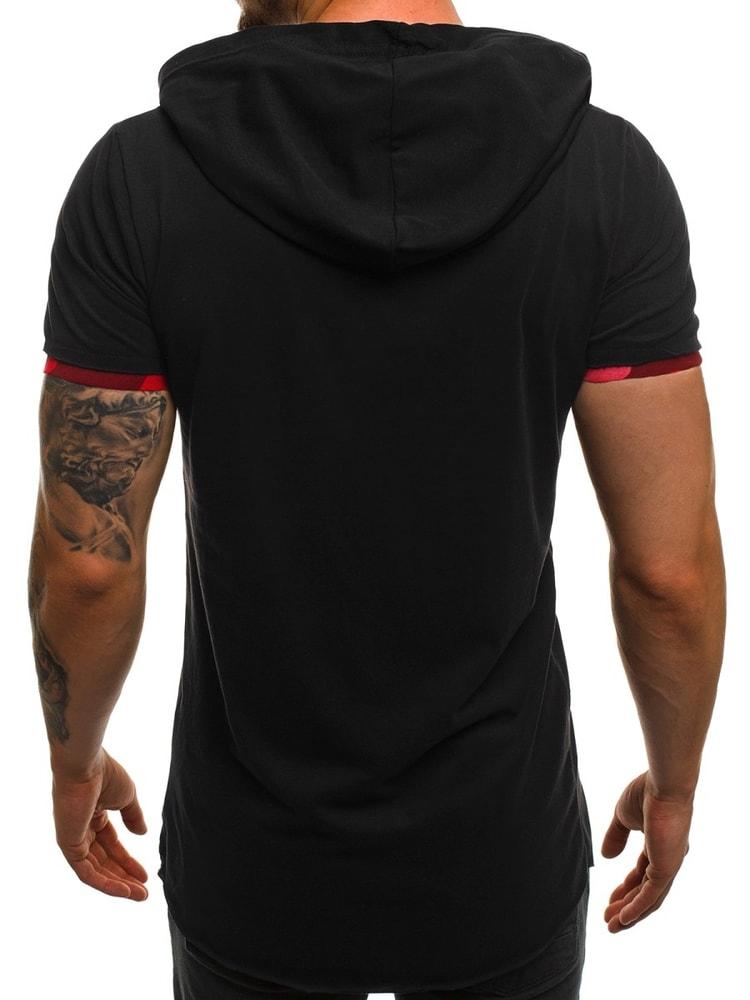 48655b9bdb80 Čierno-červené asymetrické tričko pre pánov OZONEE A 1185 - Budchlap.sk