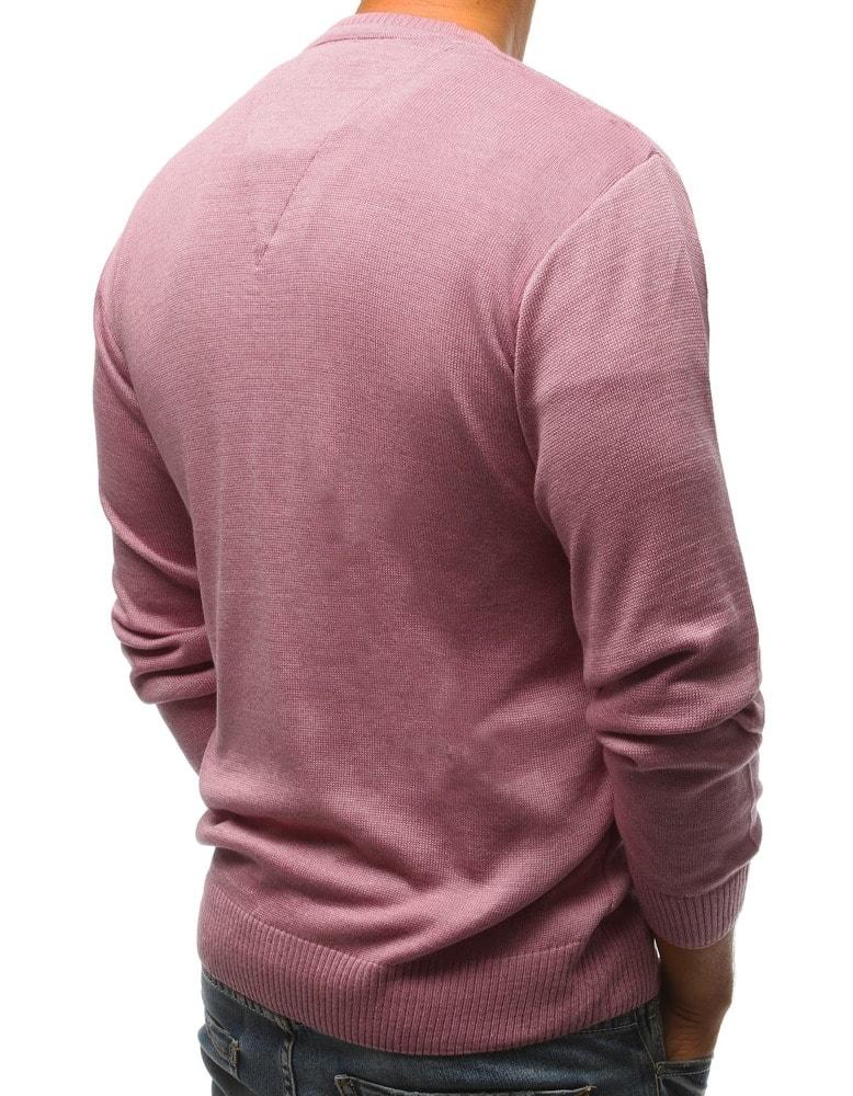 73e0f33df74f Elegantný pánsky sveter ružový - Budchlap.sk