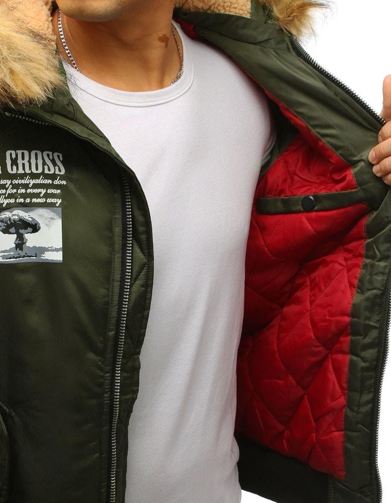 a2b8b7c35b62 Bomber zimná bunda zelená - Budchlap.sk
