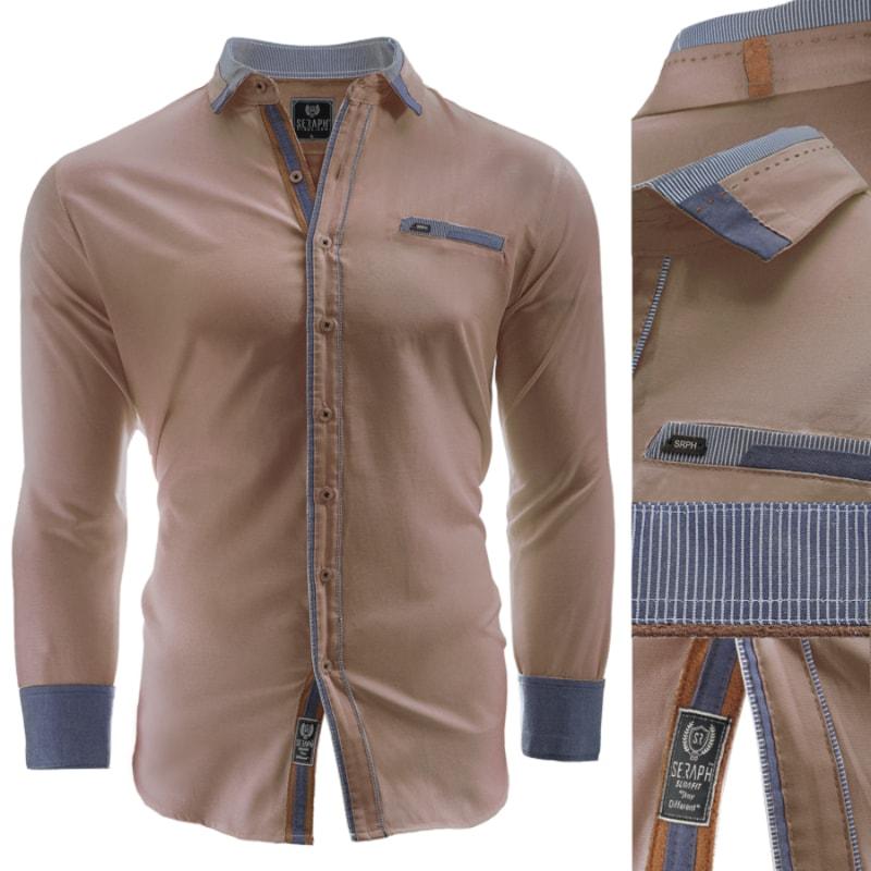 241280929f Hnedá košeľa Vasto - Budchlap.sk