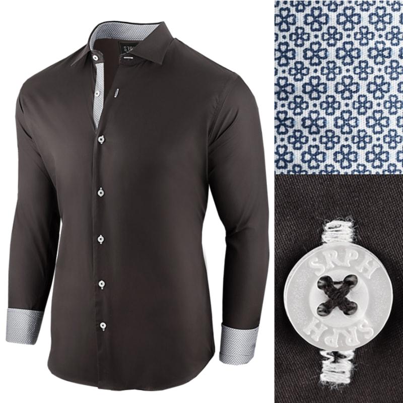 3968024c9e10 Čierna bavlnená pánska košeľa Essential Life - Budchlap.sk