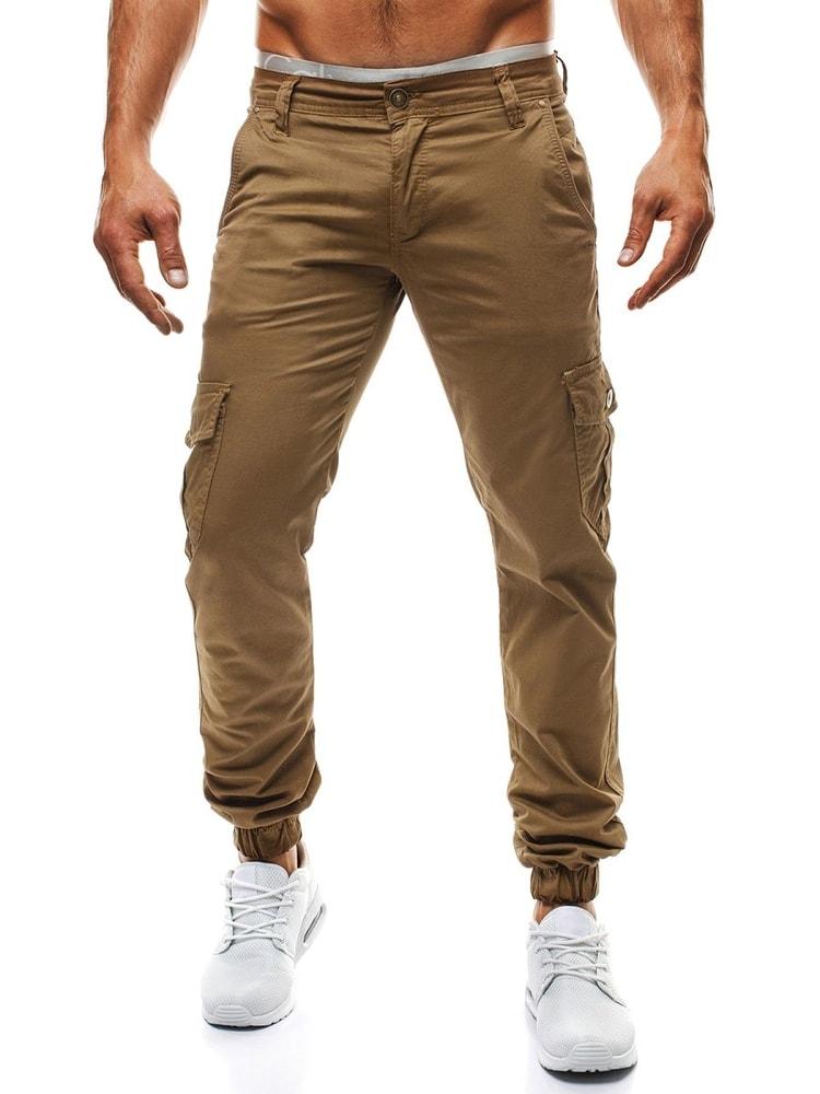 47d53167bf13 Pohodlné nohavice JNS v tmavo ťavej farbe - Budchlap.sk