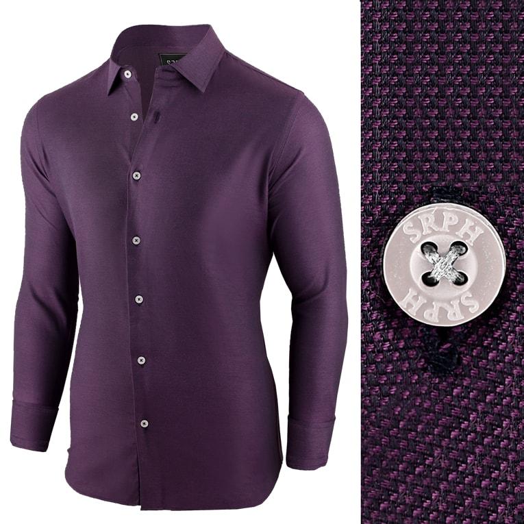257f3da18da9 Purpurová pánska košeľa s dlhým rukávom - Budchlap.sk