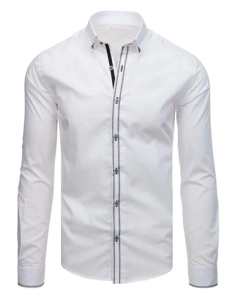02a437d93613 Elegantná pánska košeľa biela - Budchlap.sk