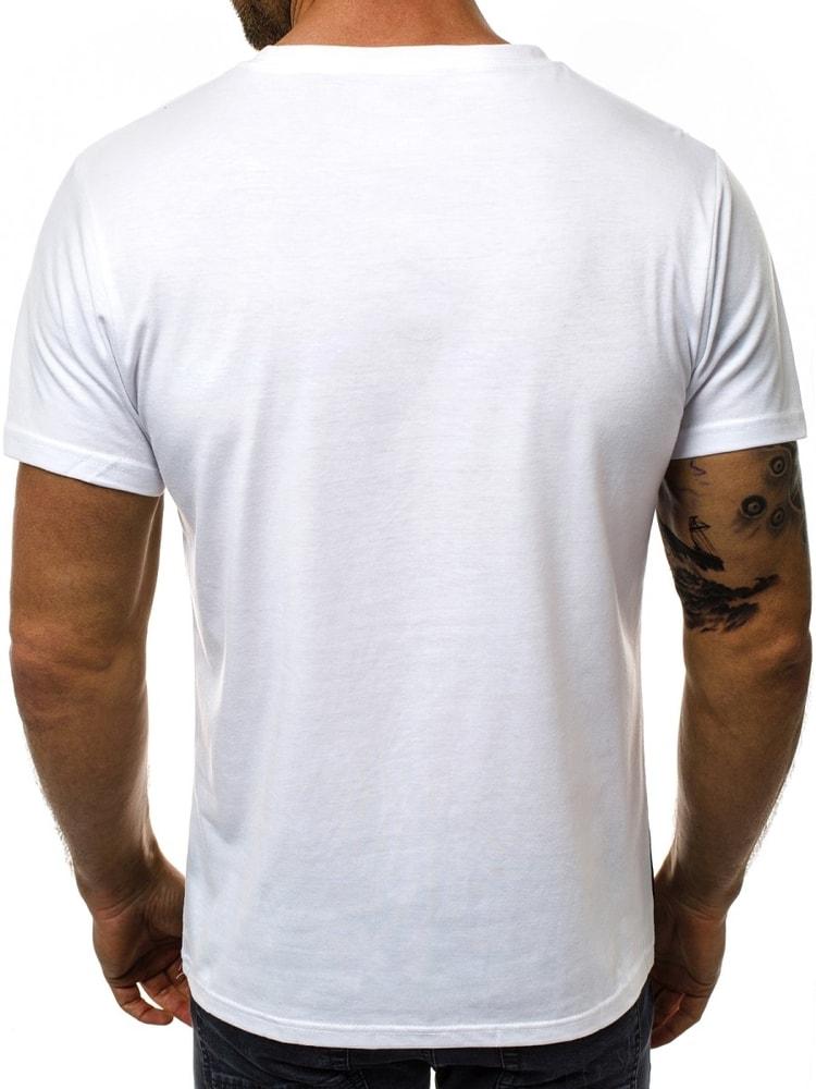 580275180dd5 Biele pánske tričko JS 10808 - Budchlap.sk