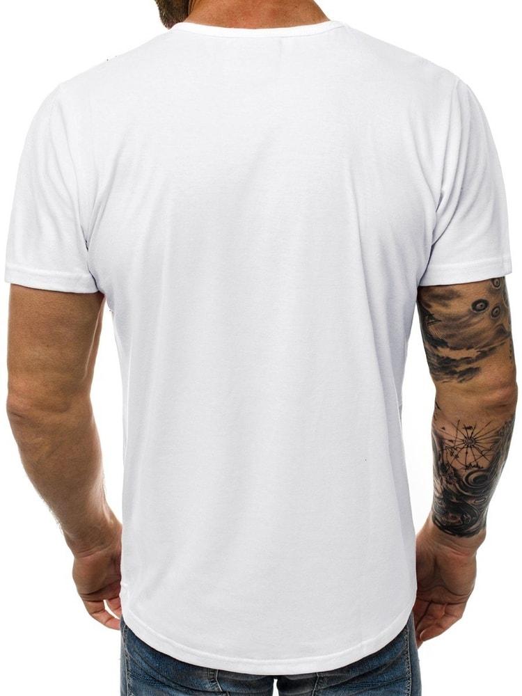 5357230beef8 Štýlové biele pánske tričko JS 1835 - Budchlap.sk