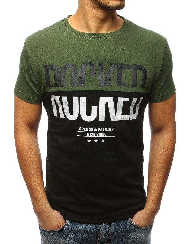 d98d08badcc5 Zelené pánske tričko s krátkym rukávom - Budchlap.sk