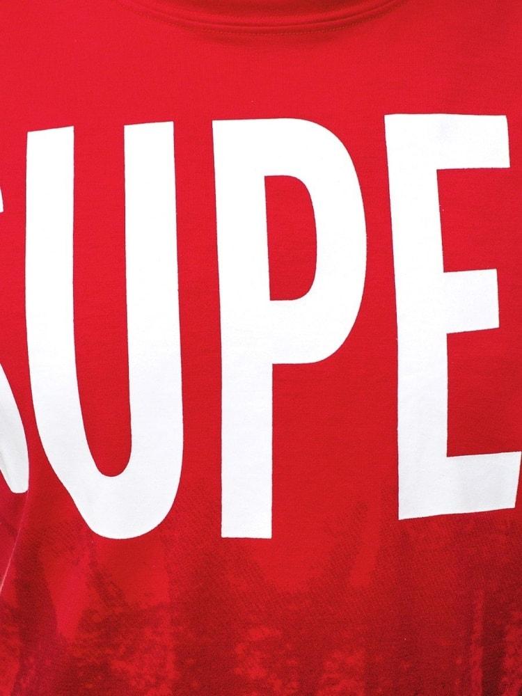 8aaa3f225309 Červené zaujímavé tričko v ombré štýle JS 10803 - Budchlap.sk