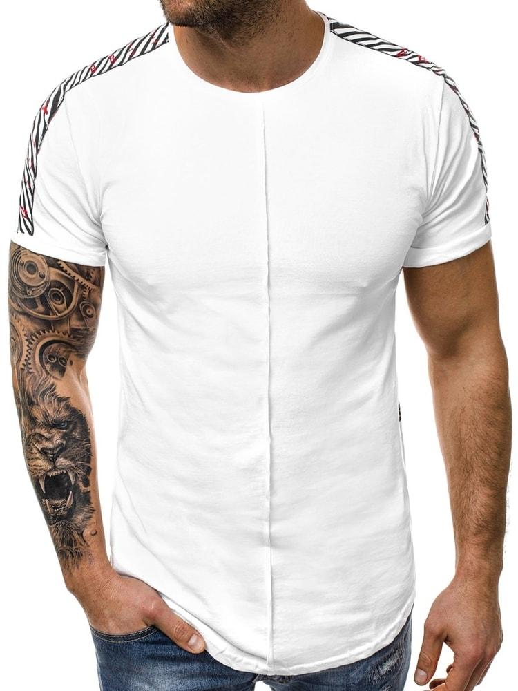 b06fb027081b Trendy predĺžené tričko biele B 181391 - Budchlap.sk