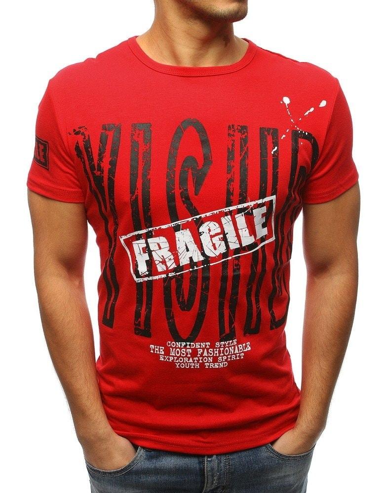 0e41c64f5735 Červené originálne tričko s potlačou - Budchlap.sk