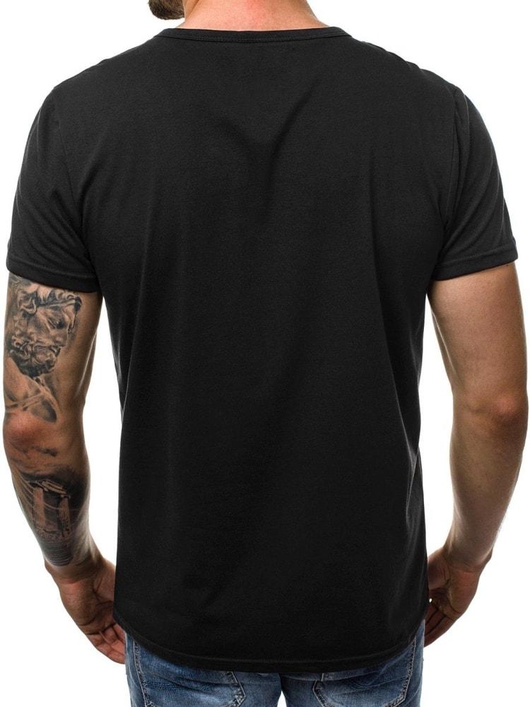 ecd32aa7d72e Zaujímavé pánske tričko čierne JS 100661 - Budchlap.sk