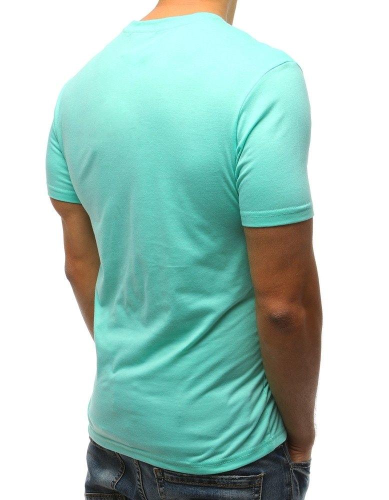 835477fb5ea1 Zelené pánske tričko s módnou potlačou - Budchlap.sk