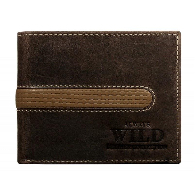 2abe110fcc18 Moderná tmavohnedá peňaženka - Budchlap.sk
