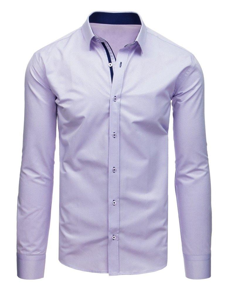 363a11b76cf9 Štýlová fialová SLIM FIT pánska košeľa - Budchlap.sk
