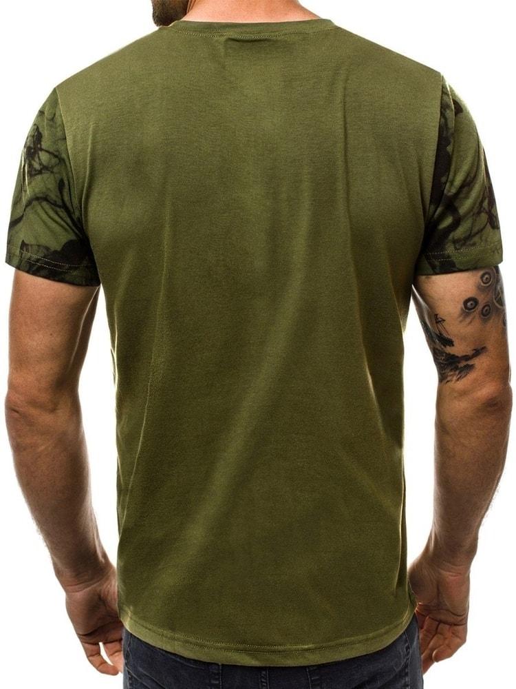 8f4a0ca194a3 Zelené pánske tričko so štýlovou potlačou - Budchlap.sk