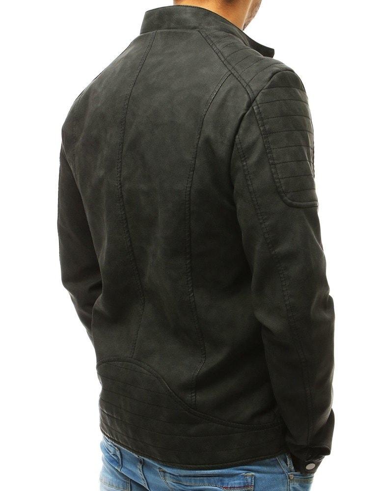 e2eff22484eb Pánska kožená čierna bunda na prechodné obdobie - Budchlap.sk