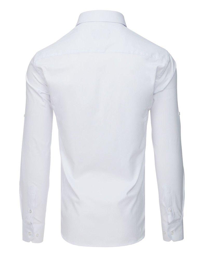 bfd338af66fa Elegantná biela košeľa s dlhým rukávom - Budchlap.sk