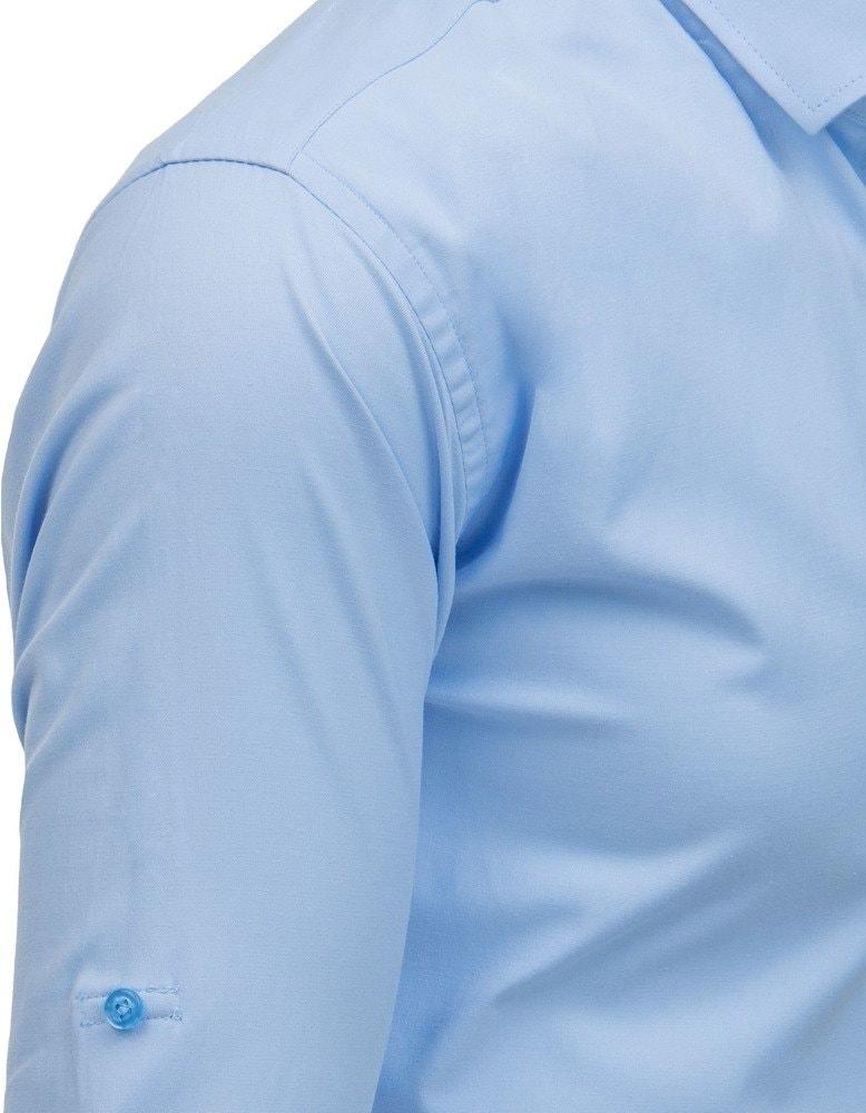7eb50883e Modrá elegantná košeľa s dlhým rukávom - Budchlap.sk
